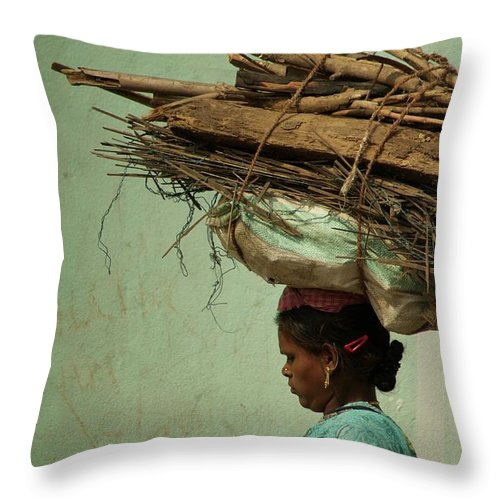 People Throw Pillow featuring the photograph From My Window by Valerie Rosen