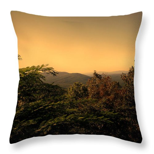 Tree Throw Pillow featuring the photograph From Peak To Peak by Nina Fosdick