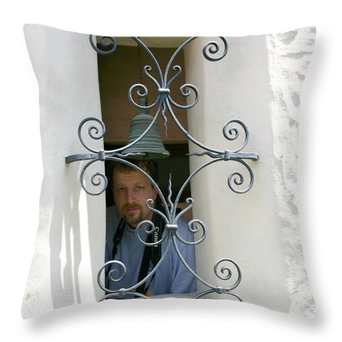 Man Throw Pillow featuring the photograph From The Outside by Nina Fosdick