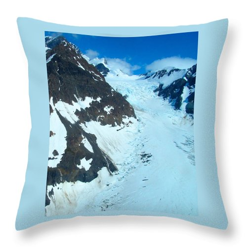 Alaska Throw Pillow featuring the photograph Frozen Tears by Michael Anthony