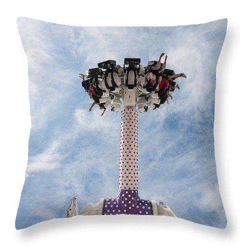 Beach Throw Pillow featuring the photograph Funfair Ride by Dawn OConnor
