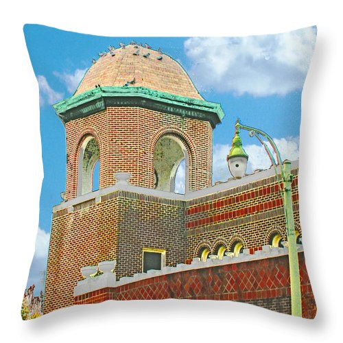Mid City Throw Pillow featuring the digital art Galloway Church Memphis by Lizi Beard-Ward