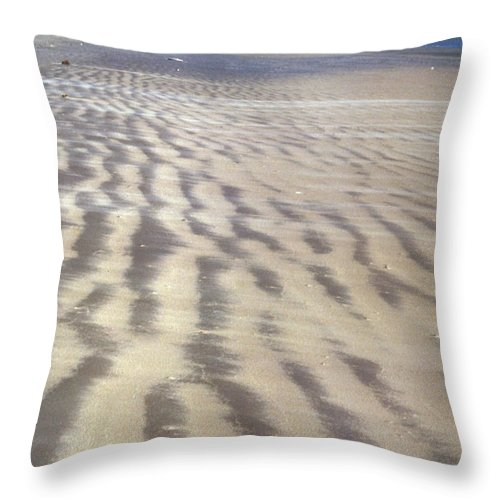 20th Century Throw Pillow featuring the photograph Galveston: Beach by Granger