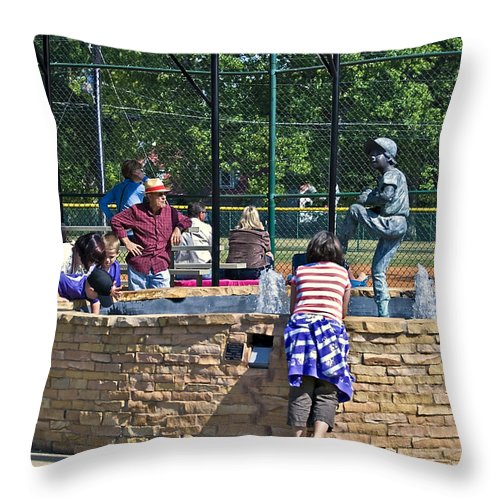 People Throw Pillow featuring the photograph Game Day by Susan Leggett