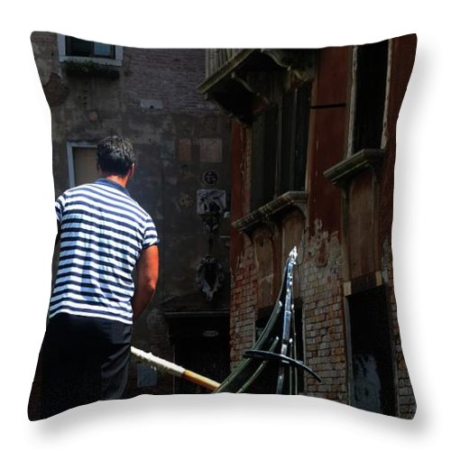 Italy Throw Pillow featuring the photograph Gandola Ride by La Dolce Vita