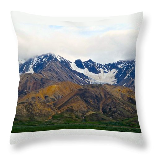 Alaska Throw Pillow featuring the photograph Garish Serenity by Michael Anthony