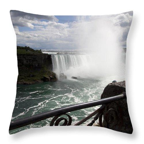 Niagara Throw Pillow featuring the photograph Gateway to Beauty by Amanda Barcon