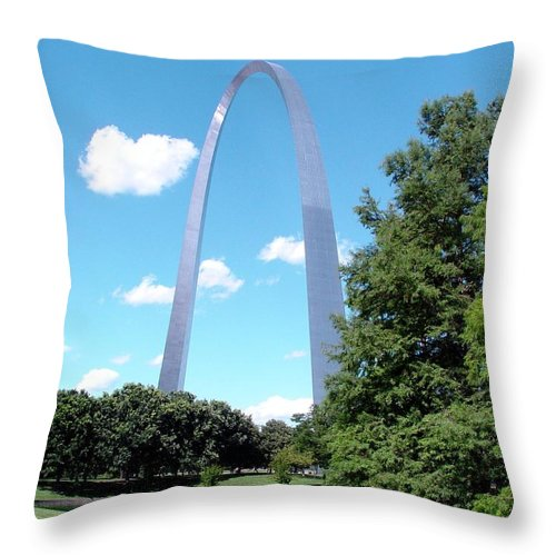 St Louis Throw Pillow featuring the digital art Gateway To The West by Barkley Simpson
