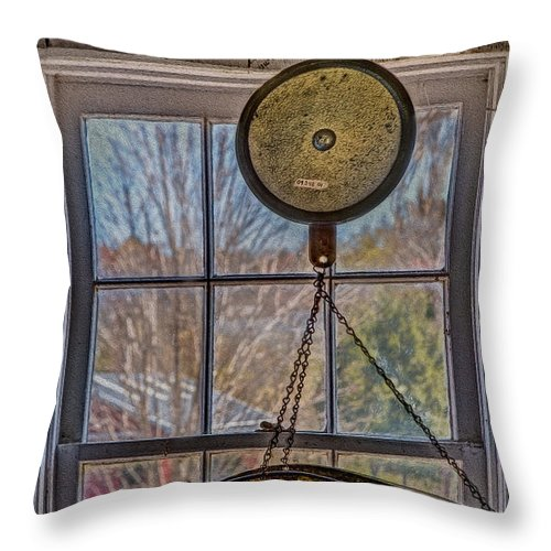 General Store Throw Pillow featuring the photograph General Store Scale by Susan Candelario
