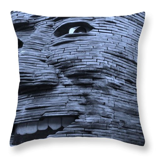 Architecture Throw Pillow featuring the photograph Gentle Giant In Cyan by Rob Hans