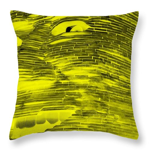 Architecture Throw Pillow featuring the photograph Gentle Giant In Negative Yellow by Rob Hans