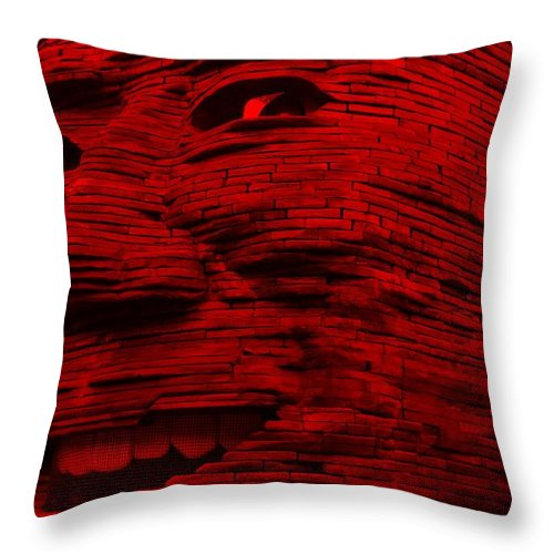 Architecture Throw Pillow featuring the photograph Gentle Giant In Red by Rob Hans