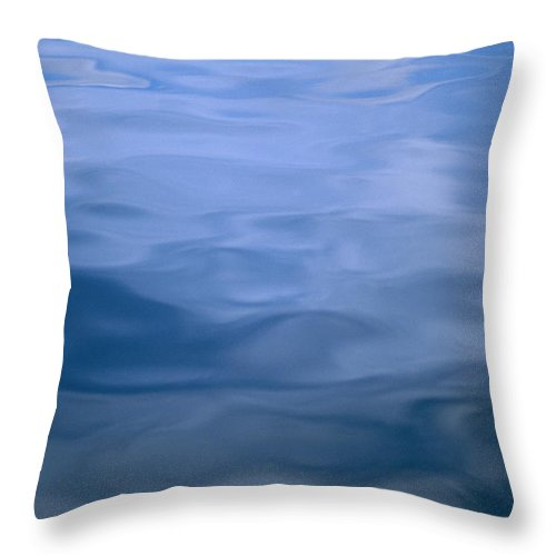 United States Of America Throw Pillow featuring the photograph Gently Rippled Blue Water by Heather Perry