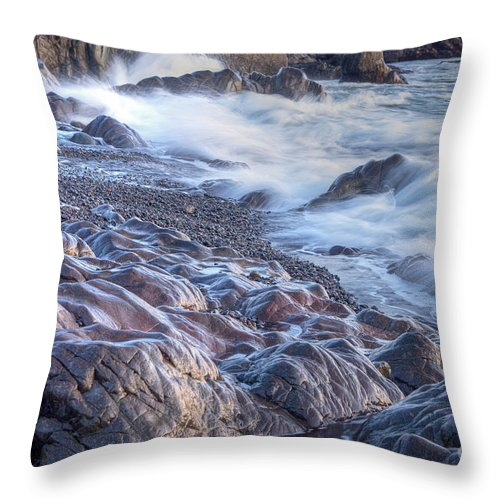 America Throw Pillow featuring the photograph Gently Worn by Susan Cole Kelly