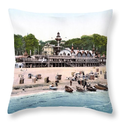 1895 Throw Pillow featuring the photograph Germany: Casino, C1895 by Granger