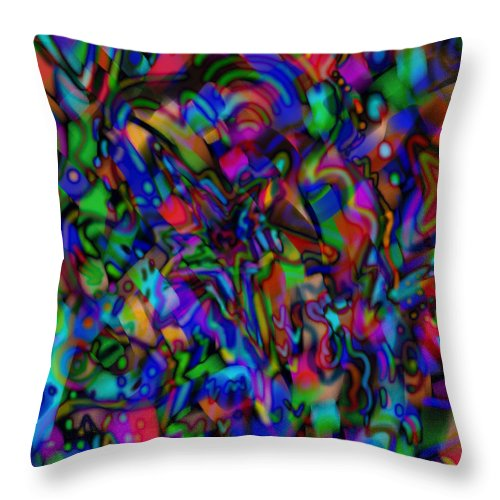 Ribbons Throw Pillow featuring the mixed media Get Busy by Kevin Caudill