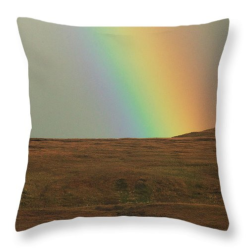 Rainbow Throw Pillow featuring the photograph Getting Closer by David Resnikoff