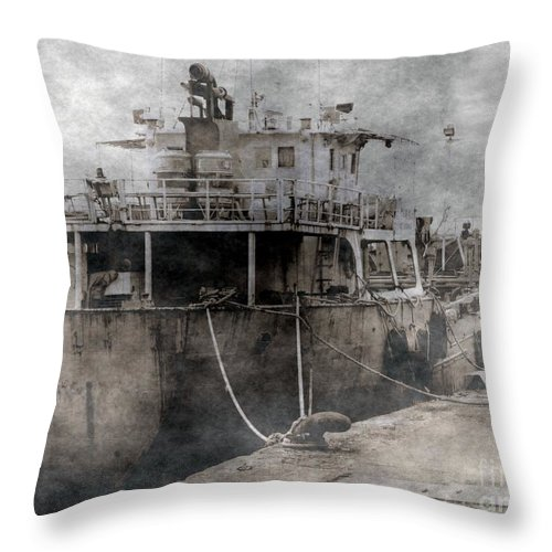 Ghostly Throw Pillow featuring the photograph Ghost Ship by Yali Shi