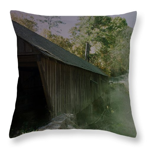 Kelly Rader Throw Pillow featuring the photograph Ghostly Cover by Kelly Rader