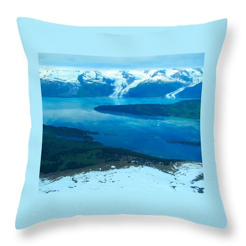 Alaska Throw Pillow featuring the photograph Glacial Exuberance by Michael Anthony