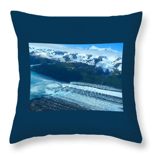 Alaska Throw Pillow featuring the photograph Glacial Highway by Michael Anthony