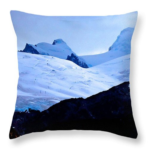 Glacier Throw Pillow featuring the photograph Glacier Cracks by Tap On Photo
