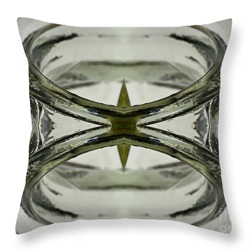Symmetrical Throw Pillow featuring the photograph Glas Art by Heiko Koehrer-Wagner