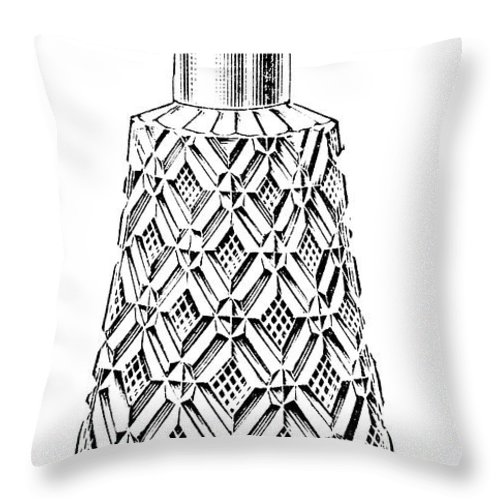 1895 Throw Pillow featuring the photograph Glass Bottle, 1895 by Granger