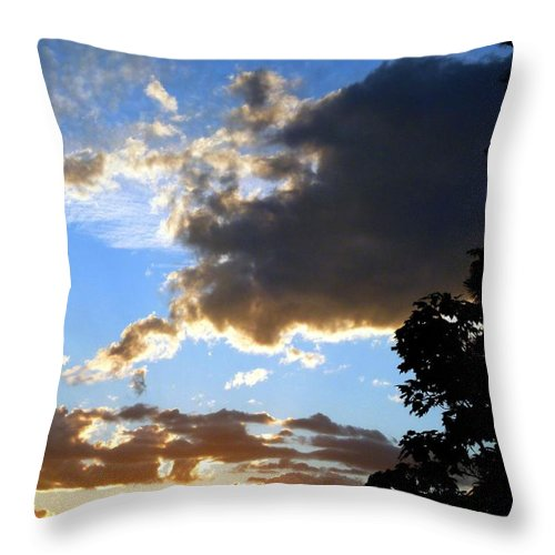 Sunset Throw Pillow featuring the photograph Glorious August Sunset by Will Borden