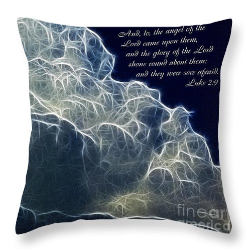 Glory Of The Lord Throw Pillow featuring the painting Glory Of The Lord by Methune Hively