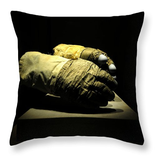 Fine Art Photography Throw Pillow featuring the photograph Gloves Of Apollo by David Lee Thompson