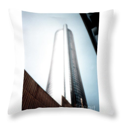 Skyscraper Throw Pillow featuring the photograph Glowing Skyscraper by Mike Nellums