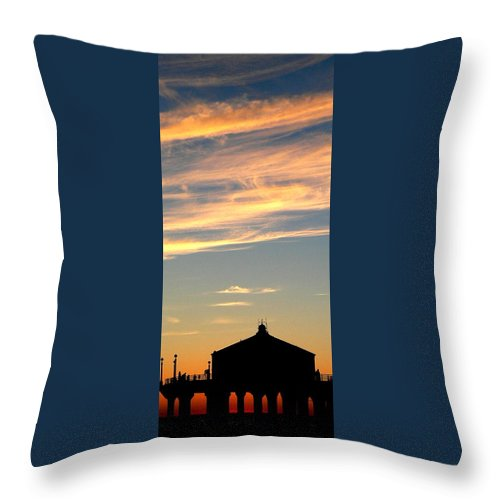 Sunset Throw Pillow featuring the photograph Glowing Sunset by Jeff Lowe