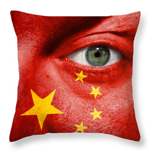 2012 Throw Pillow featuring the photograph Go China by Semmick Photo