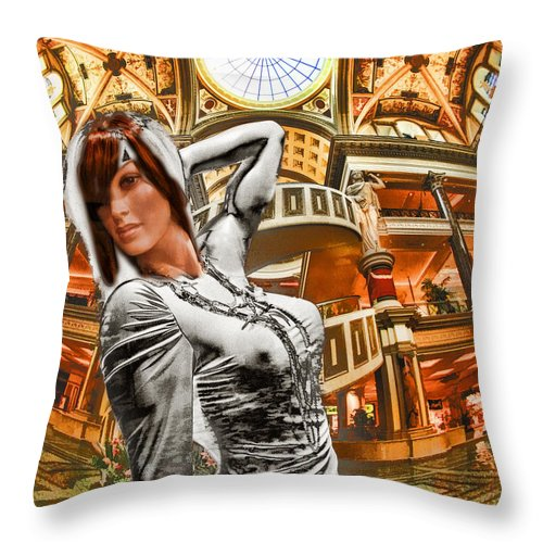Art Photography Throw Pillow featuring the photograph Go Go Girl by Blake Richards