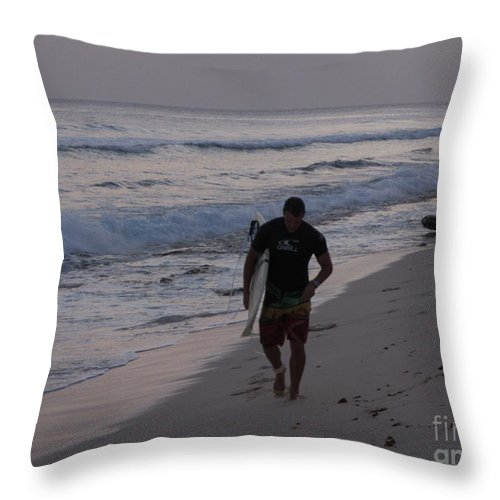 Surfer Throw Pillow featuring the photograph Going Home by John Malone