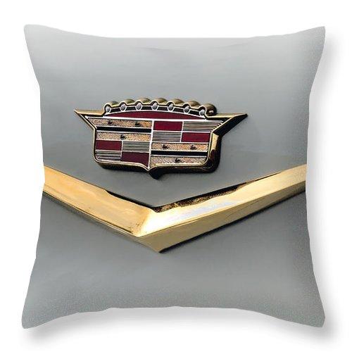 Cadillac Throw Pillow featuring the digital art Gold Badge Cadillac by Douglas Pittman
