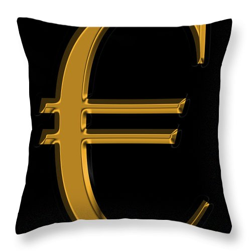 Euro Throw Pillow featuring the photograph Gold Euro by Andrew Fare