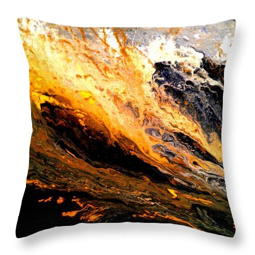 Gold Throw Pillow featuring the painting Gold Rush by Eric Moore