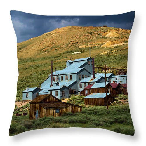 Bodie Ghost Town Throw Pillow featuring the photograph Golden Dreams by Adam Jewell