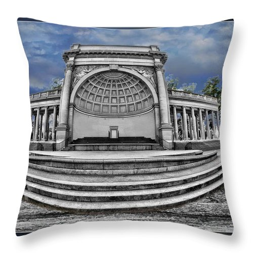 Art Photography Throw Pillow featuring the photograph Golden Gate Park Stage by Blake Richards