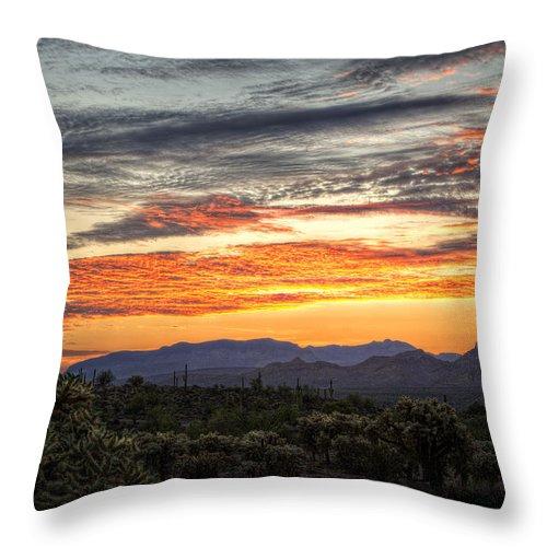 Sunrise Throw Pillow featuring the photograph Golden Morning by Saija Lehtonen
