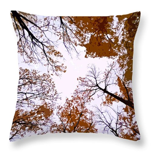 North America Throw Pillow featuring the photograph Golden September ... by Juergen Weiss