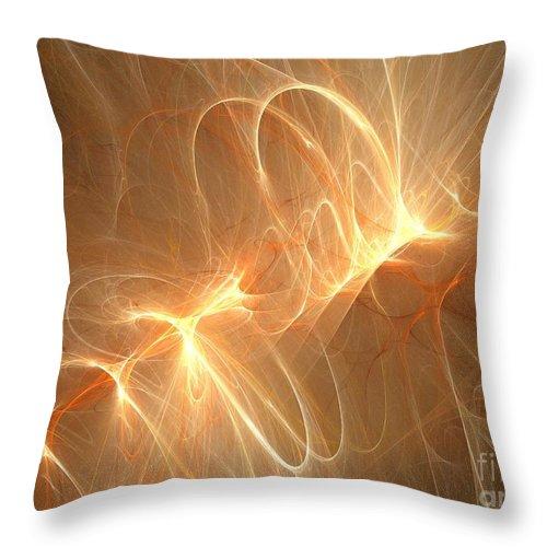 Apophysis Throw Pillow featuring the digital art Goldenrod by Kim Sy Ok