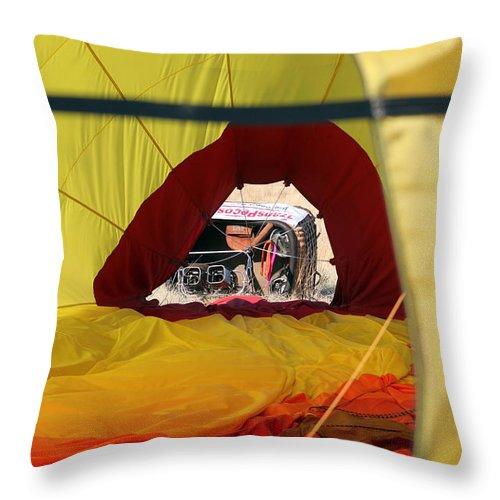 Basket Throw Pillow featuring the photograph Gondola Envelopment by Alycia Christine