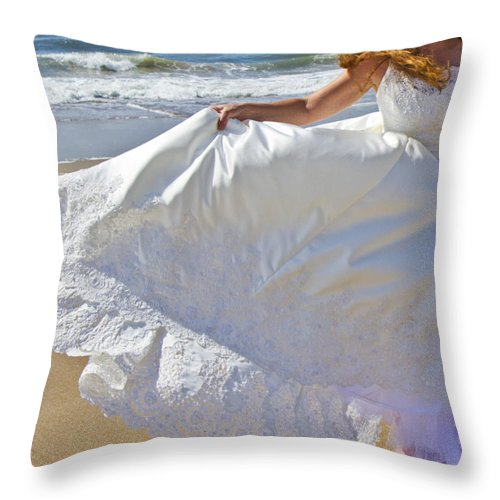 Topsail Throw Pillow featuring the photograph Gone With The Wind by Betsy Knapp
