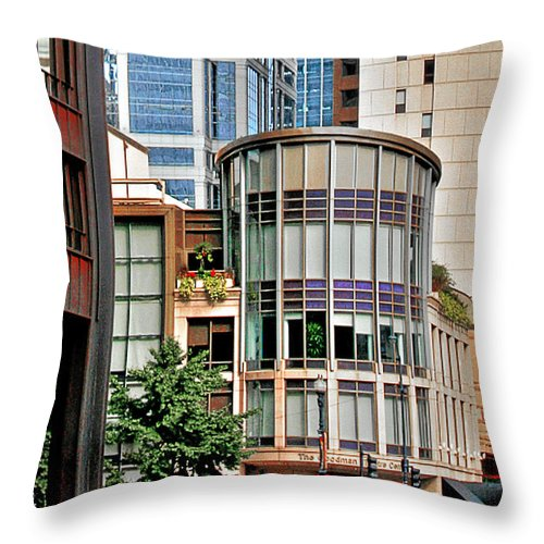 Goodman Throw Pillow featuring the photograph Goodman Theatre Chicago Illinois by Christine Till
