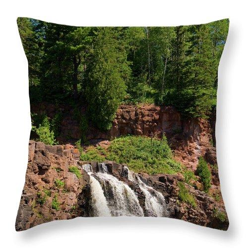 Minnesota Throw Pillow featuring the photograph Gooseberry Falls by Steve Stuller