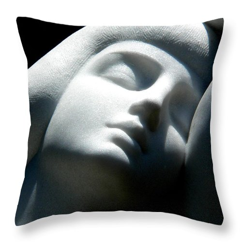 Nude Throw Pillow featuring the photograph Grace At Peace by Jeff Lowe