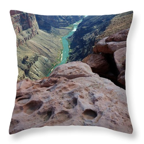 Grand Canyon Throw Pillow featuring the photograph Grand Canyon Arizona by Bob Christopher
